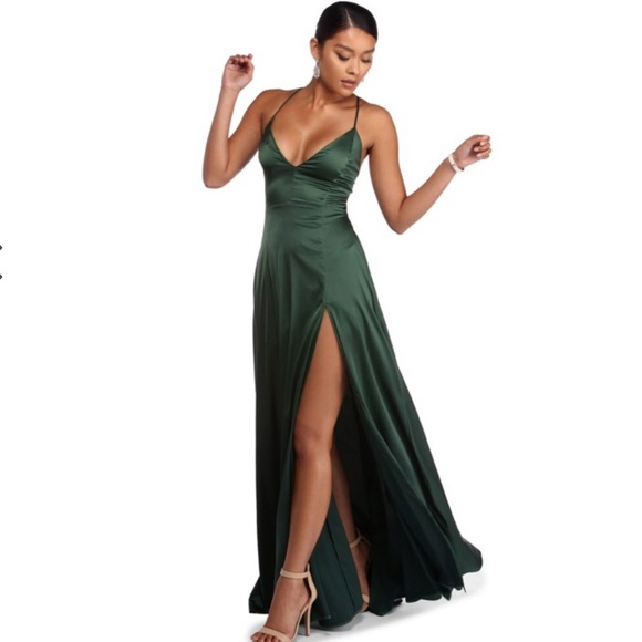0a9870ad8bdfd Windsor Dresses | Vera Satin Lace Up Formal Dress | Poshmark